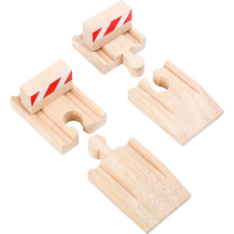 Rampas y toperas para trenes, 4 piezas