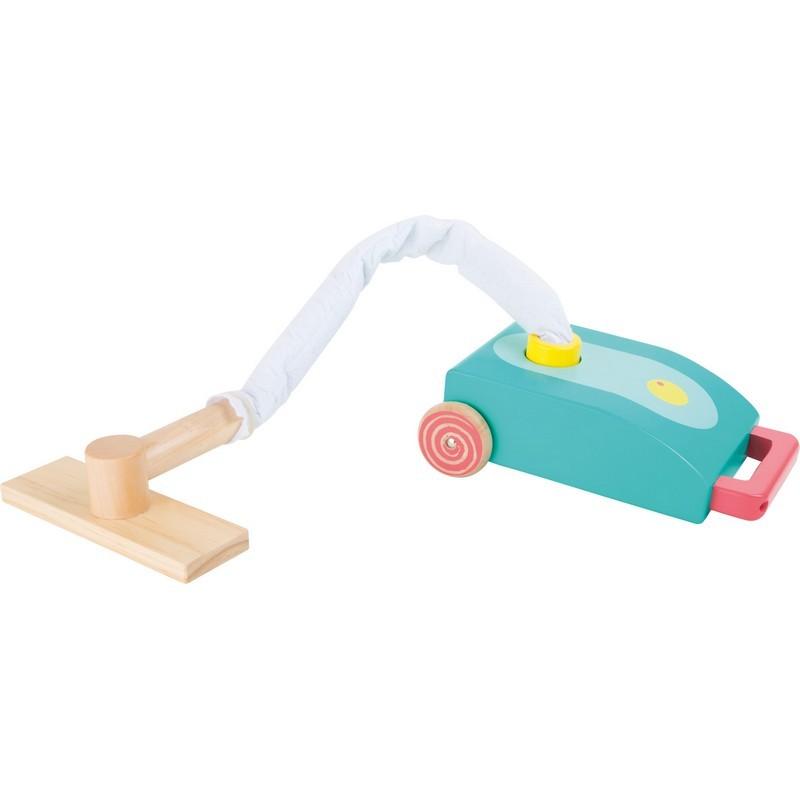 Aspiradora infantil de madera