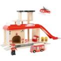 Estación de bomberos con accesorios