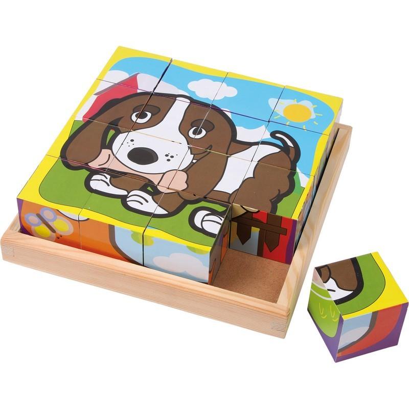 Puzle de cubos Mascotas