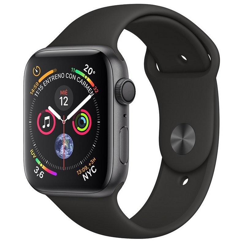 Apple Watch Series 4 GPS 44mm Alumínio Cinzento Espacial / Pulseira Desportiva Preto