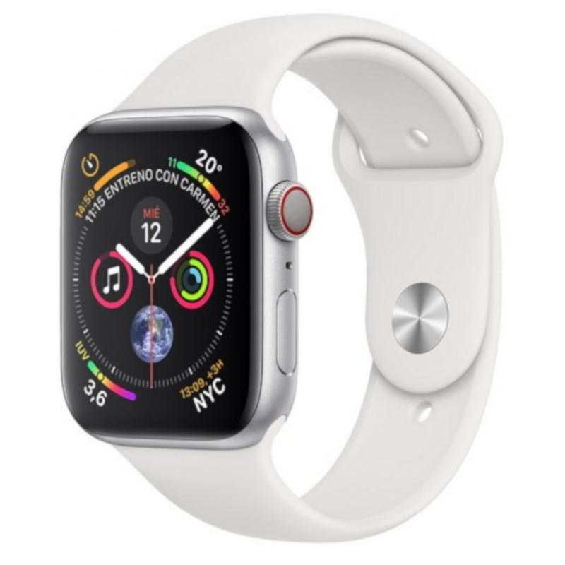 Apple Watch Series 4 GPS 44mm Aluminio Plata / Correa Deportiva Blanco