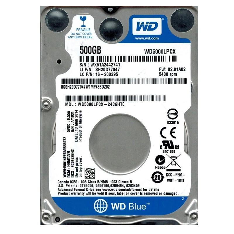 """Disco Duro WD Blue 500GB SATA 2,5"""""""