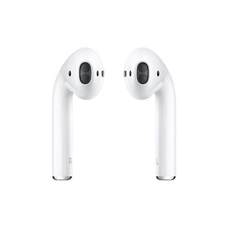 Apple Airpods - Auriculares Bluetooth; auriculares inalámbricos, emparejamiento automático con dispositivos apple, acelerómetro, detección inteligente (pausa y reproduce cuando detecta que tenemos puestos los auriculares), micrófono comunicación con Sir