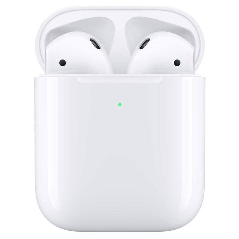 Apple Airpods V2 con Estuche de Carga Inalámbrica - Auriculares Bluetooth