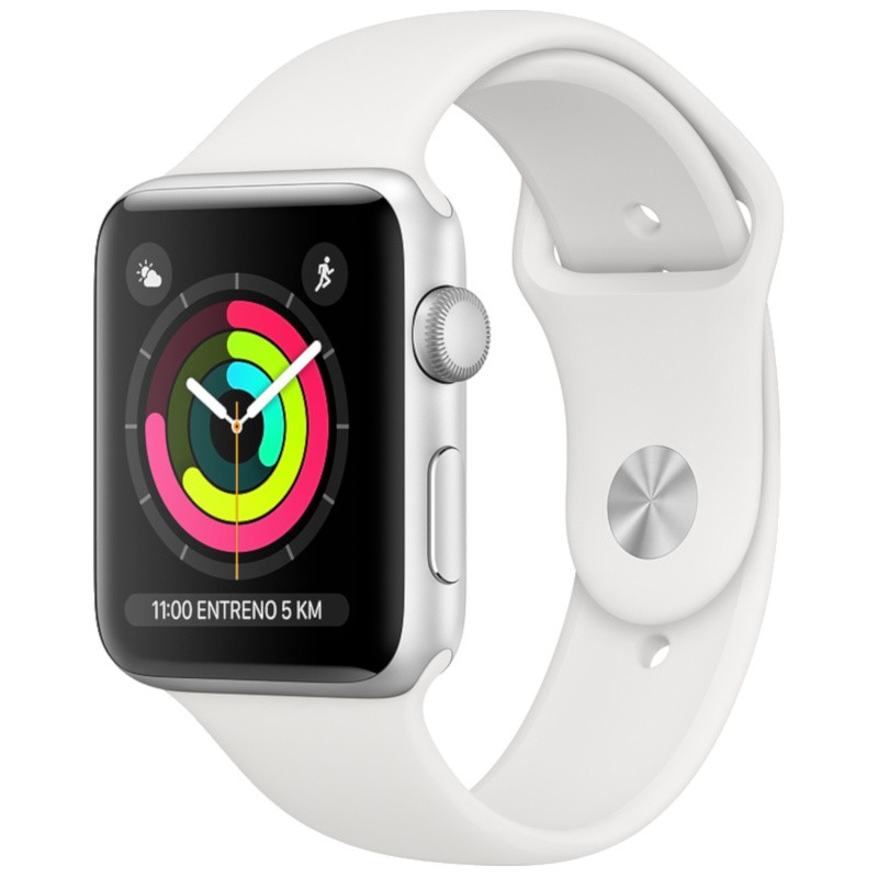 Apple Watch Series 3 GPS 42mm Aluminum Silver/White Sports Strap