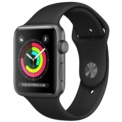 Apple Watch Series 3 GPS 38mm Aluminio Gris Espacial / Correa Deportiva Negra