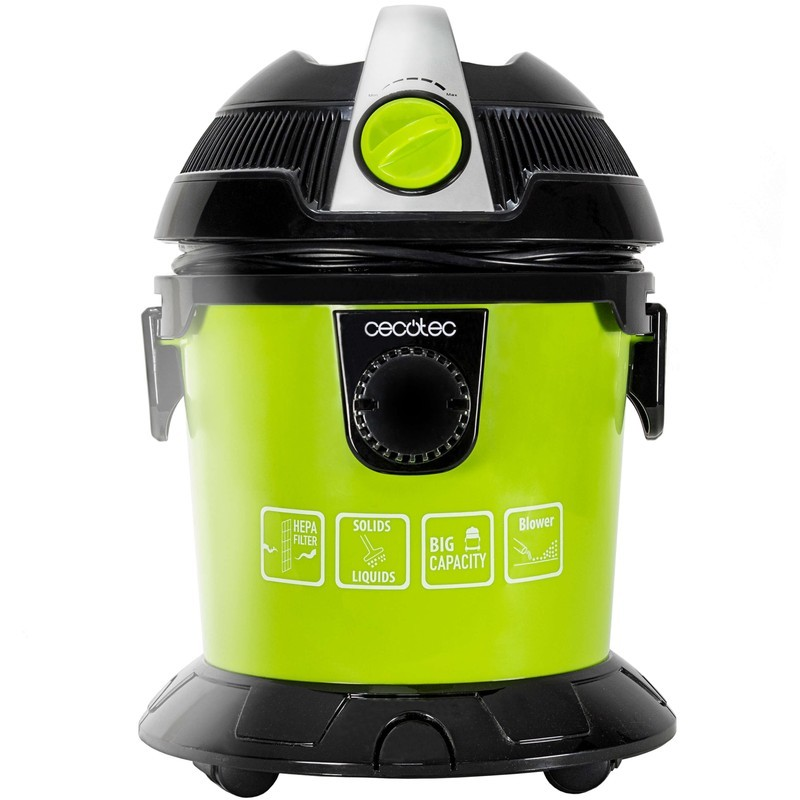 Aspirador de pó sólido e líquido Cecotec Conga Wet & Dry Easy - Aspirador de pó sólido e líquido compacto com alta potência: 1000 W.