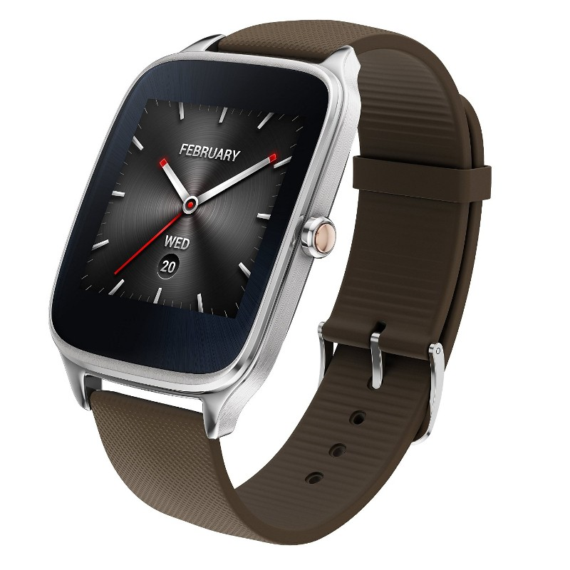 Asus ZenWatch 2 WI501Q Plateado Goma Taupe