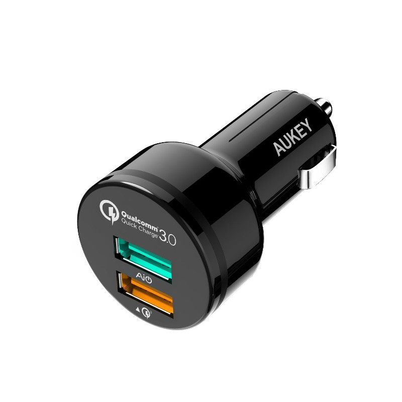 AUKEY CC-T7 Cargador de Coche 2 Puertos USB