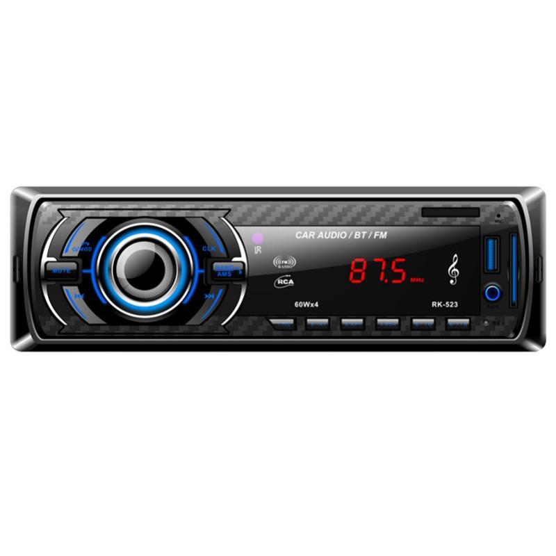 Autoradio Bluetooth RK-523 - Bluetooth, AUX 3.5 mm, reproducción MP3, puerto USB, ranura SD, mando a distancia
