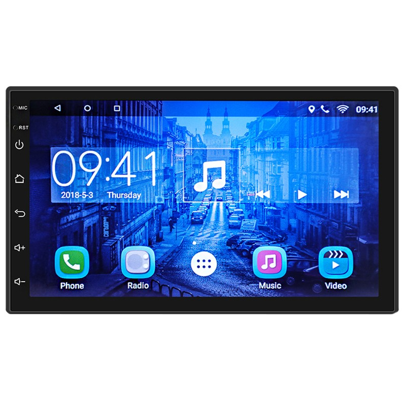 Autoradio 2 DIN CL-7200C 7 Android 8.1 / 1GB RAM / 16GB ROM / Wi-Fi / Bluetooth / Mirror Link / GPS