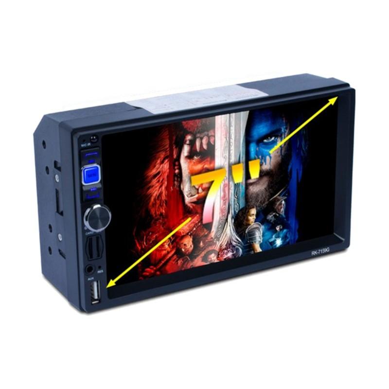 Autoradio RK-7159G - Color negro - Mando Control - Bluetooth - Mirror Link - Radio FM/AM/RDS - Reproducción Local Multimedia - Navegación GPS Multilenguaje - Pantalla Táctil 800 x 480 - Máxima Resolución Vídeo 1080P
