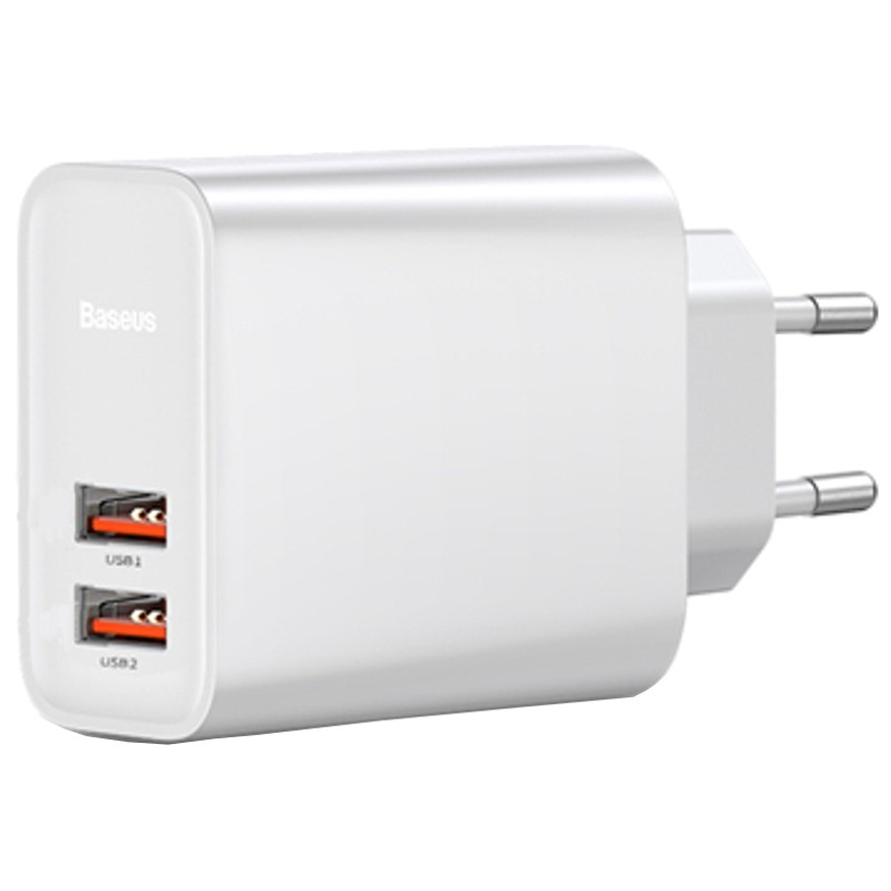 Baseus Cargador Dual USB Quick Charge 3.0 30W