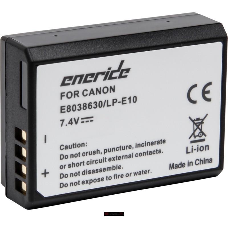 Bateria Eneride E Can LP-E10 1020 mAh para Canon EOS 1300D / 1200D / 1100D / 1500D / 2000D / 3000D / 4000D - Bateria Compatível com os modelos da Canon: EOS 1300D / 1200D / 1100D / 1500D / 2000D / 3000D / 4000D - Capacidade 1020 mAh