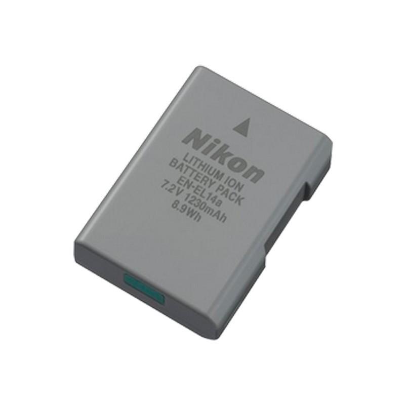Bateria Nikon EN-EL14A para Nikon D3300 / D3400 / D5500 / D5600 / D5300 / DF / D3200 - Cor Cinza - Bateria Compatível exclusivamente com os modelos Nikon: D3300 / D3400 / D5500 / D5600 / D5300 / D5300 / DF / D3200 - Capacidade 1230 mAh