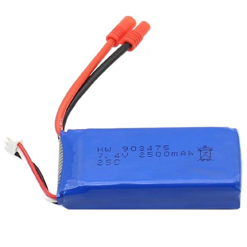 Batería Syma X8 / X8C / X8HC / X8W / X8SC / X8HG / X8HW 2500mAh 7.4V Li-Po - Batería de repuesto para dronesRC compatible con los modelos Syma:X8 / X8C / X8HC / X8W / X8SC / X8HG / X8HW.