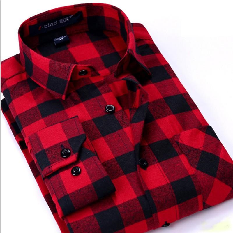 Camisa Charts Vermelho e Preto - Homen