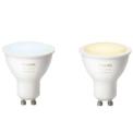Smart Bulb Philips Hue White Ambiance Pack x2 9.5W GU10 Warm / Cold White