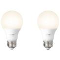 Smart Light Bulb Philips Hue White Pack x2 9.5W E27 Warm White
