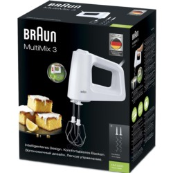 Batedeira Braun MultiMix 3 HM 3105 WH Branca - Item1