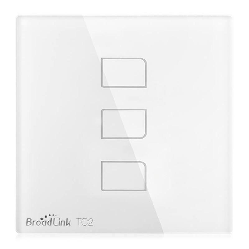 Interruptor Triple Broadlink TC2-3 Luz inteligente