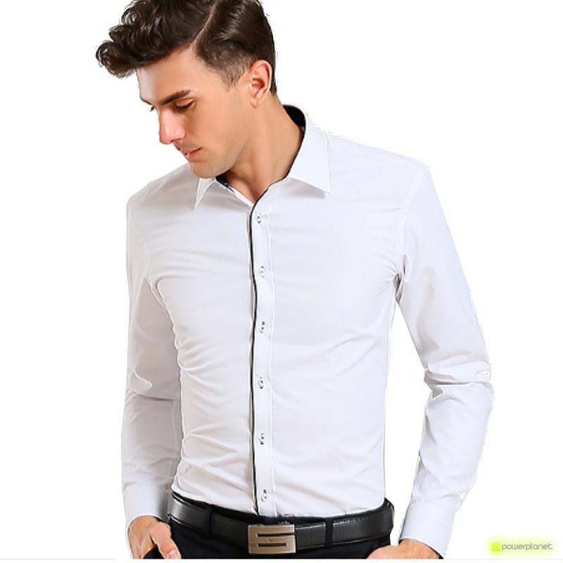 Camisa Basic Manga Larga Blanco - Hombre