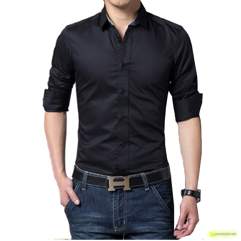 Camisa Basic Negro - Hombre