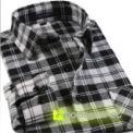 Camisa de Cuadros Gris y Negro - Hombre