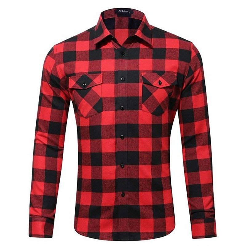 Camisa de Cuadros Roja/Negra Campera