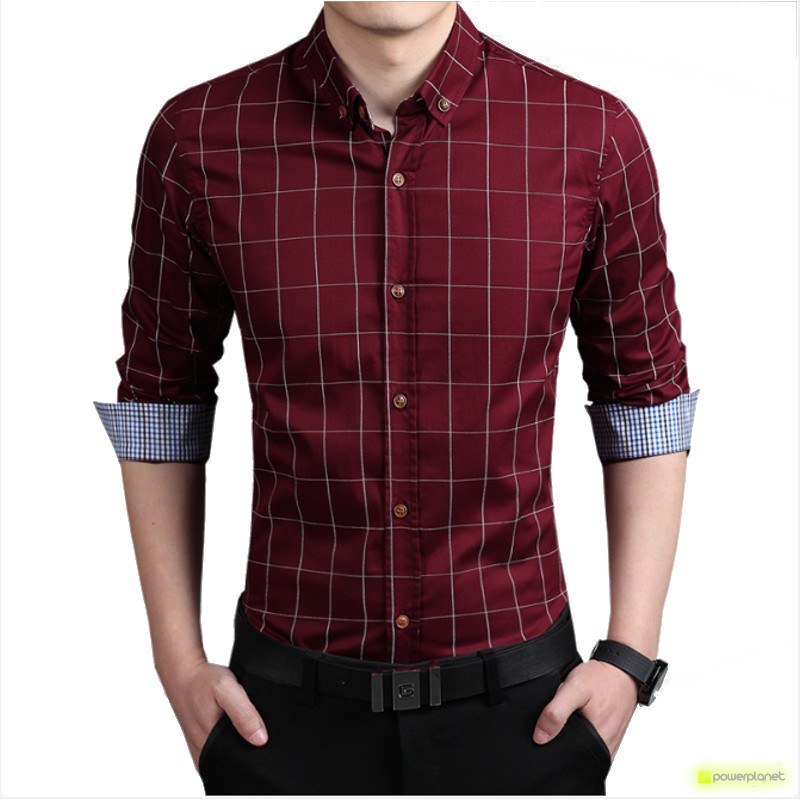 Camisa Good Line Granate - Hombre