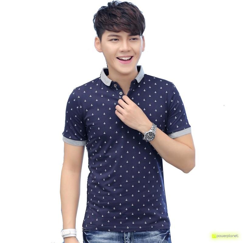 Camisa Marina Azul - Hombre
