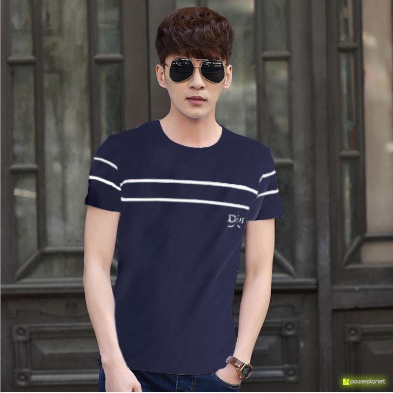 Camiseta Blue Double Line