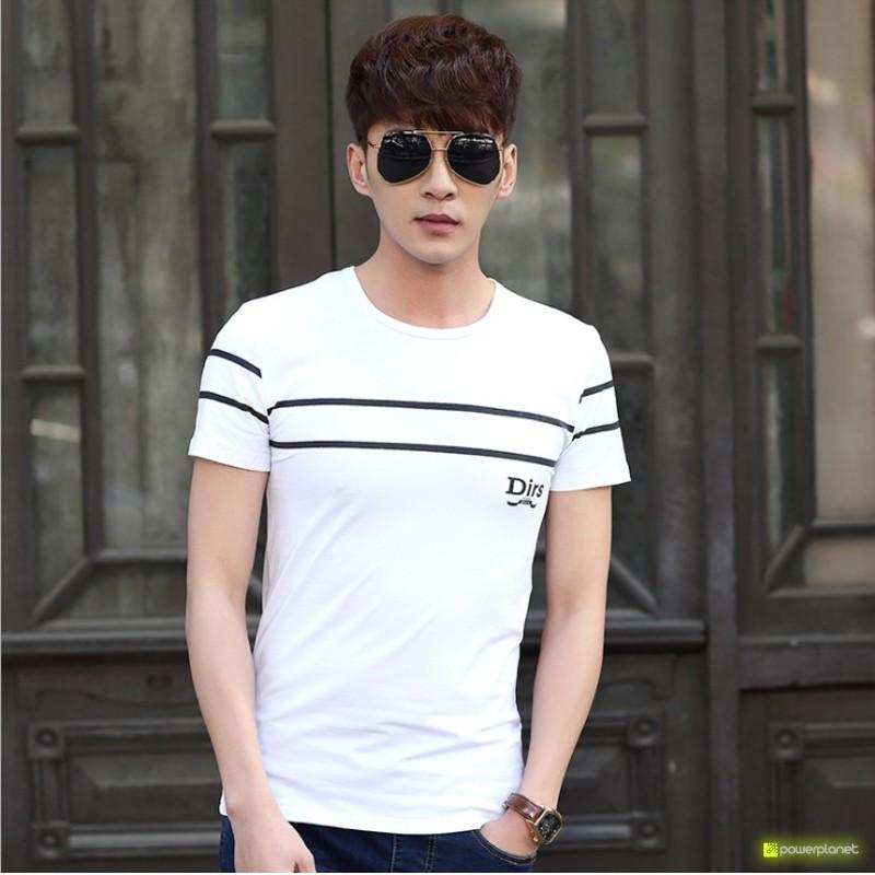 Camiseta Double Line Blanco - Hombre
