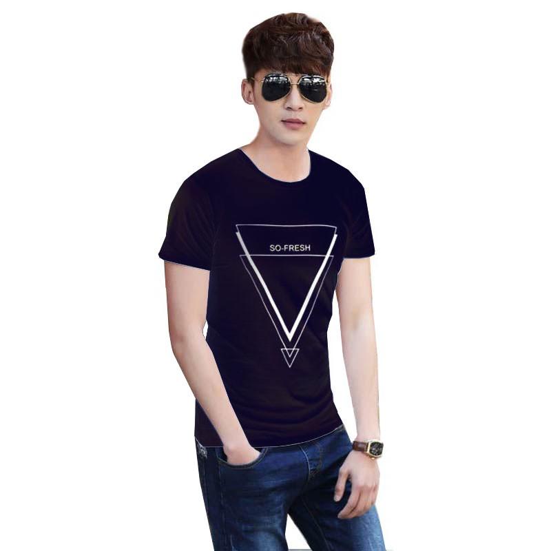 Camiseta Azul Marino Fresh Triangle