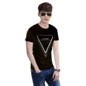 Camiseta Negra Fresh Triangle