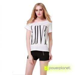 Camiseta Print LOVE Blanca - Ítem2