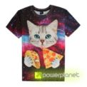 Camiseta Pizza Cat