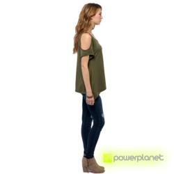 Camiseta Verde Hombro Descubierto - Ítem1