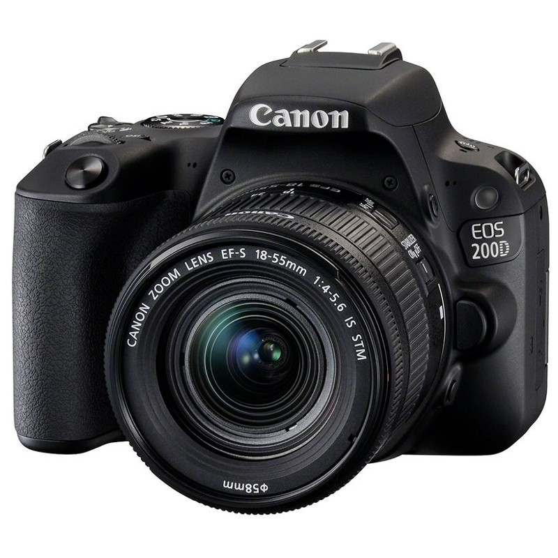 Canon EOS 200D + EF-S 18-55 IS STM - preto