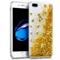 Capa de silicone com print Abelhas de Cool para iPhone 8 Plus