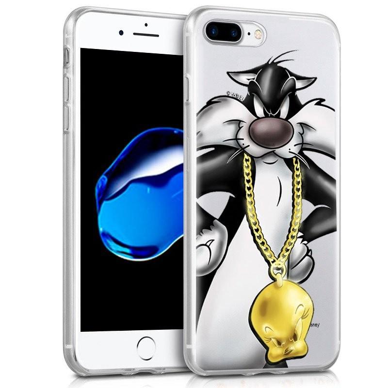 Capa de silicone com print Silvestre de Cool para iPhone 8 Plus