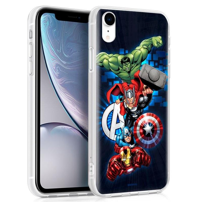 Funda de silicona con print Avengers de Cool para iPhone XR