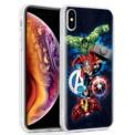 Capa de silicone com print Avengers de Cool para iPhone XS