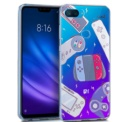 Capa de silicone com print Clear Consoles de Cool para Xiaomi Mi 8 Lite