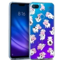 Funda de silicona con print Clear Vacas de Cool para Xiaomi Mi 8 Lite
