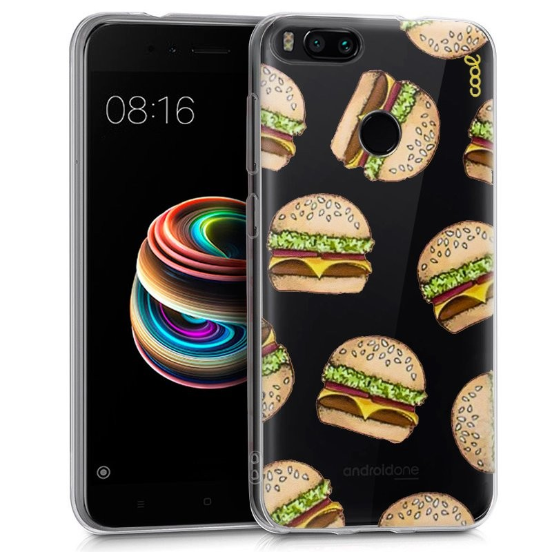 Funda de silicona con print Clear Burger de Cool para Xiaomi Mi A1