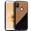 Capa bicolor bege e preto para Xiaomi Mi A2