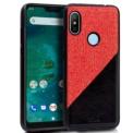 Bicolor red and black cover for Xiaomi Mi A2 Lite