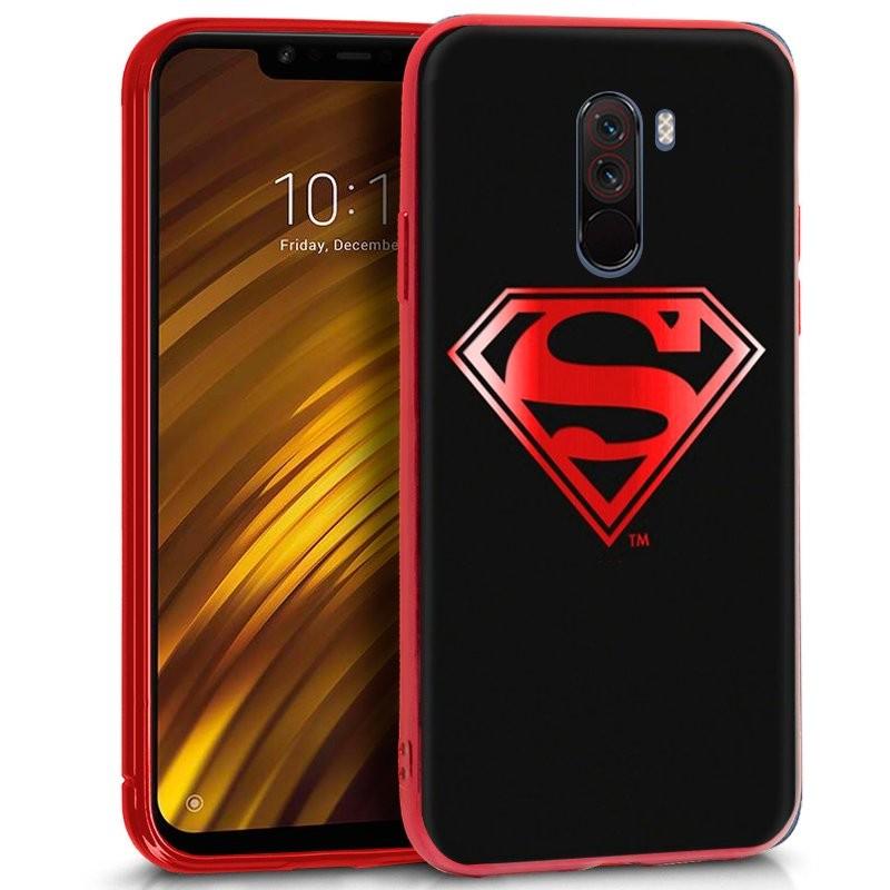 Funda de silicona con print Superman de Cool para Pocophone F1